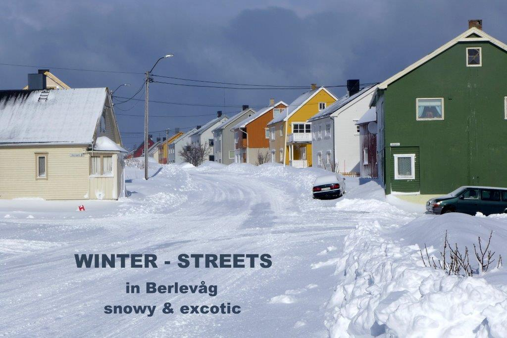 Winter streets in Berlevåg